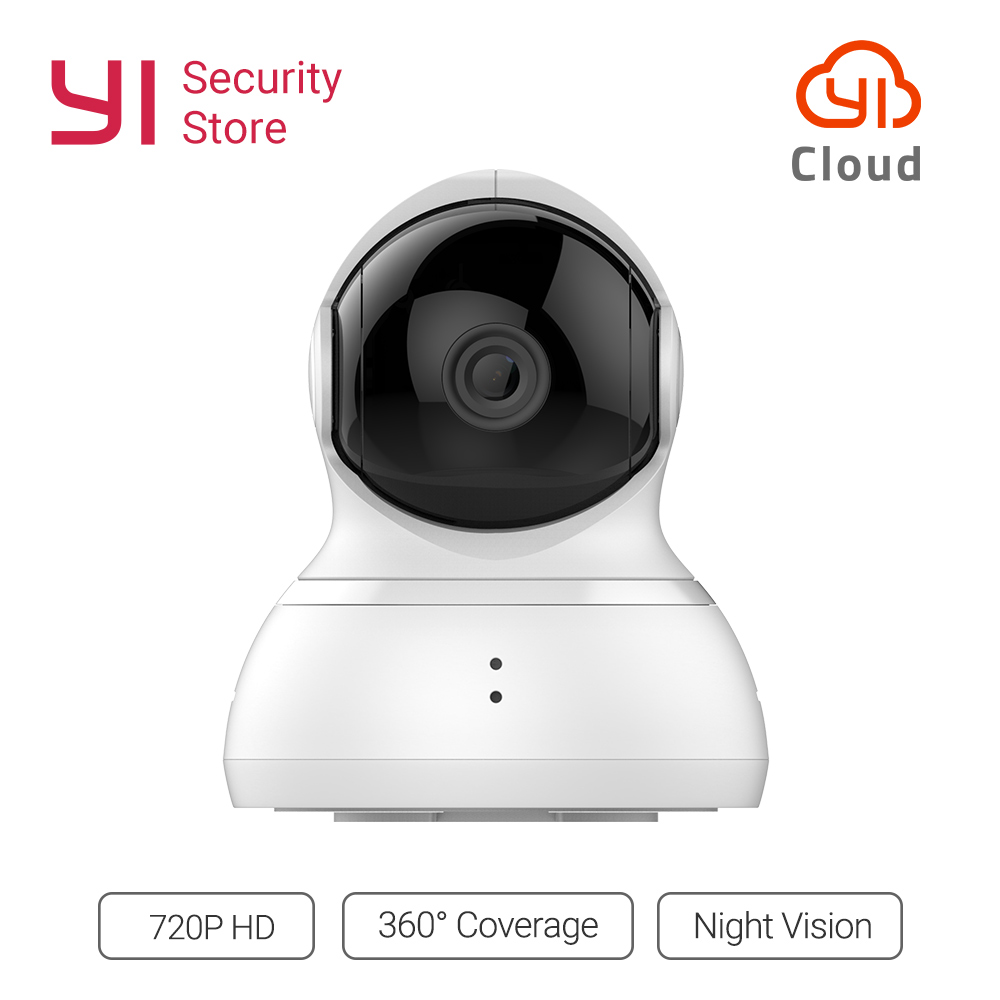 YI Dome Camera 720p 360 Degree Night Vision Home Cam Pan/Tilt/Zoom Wireless IP Security Surveillance System YI Cloud Global-in Surveillance Cameras from Security & Protection    1