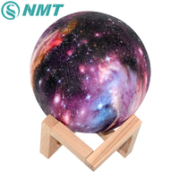 15CM Starry Sky Pattern 3D Printing LED Moon Light USB Charging Touch Switch 3 Color Baby Night Lights Christmas Decor Gift