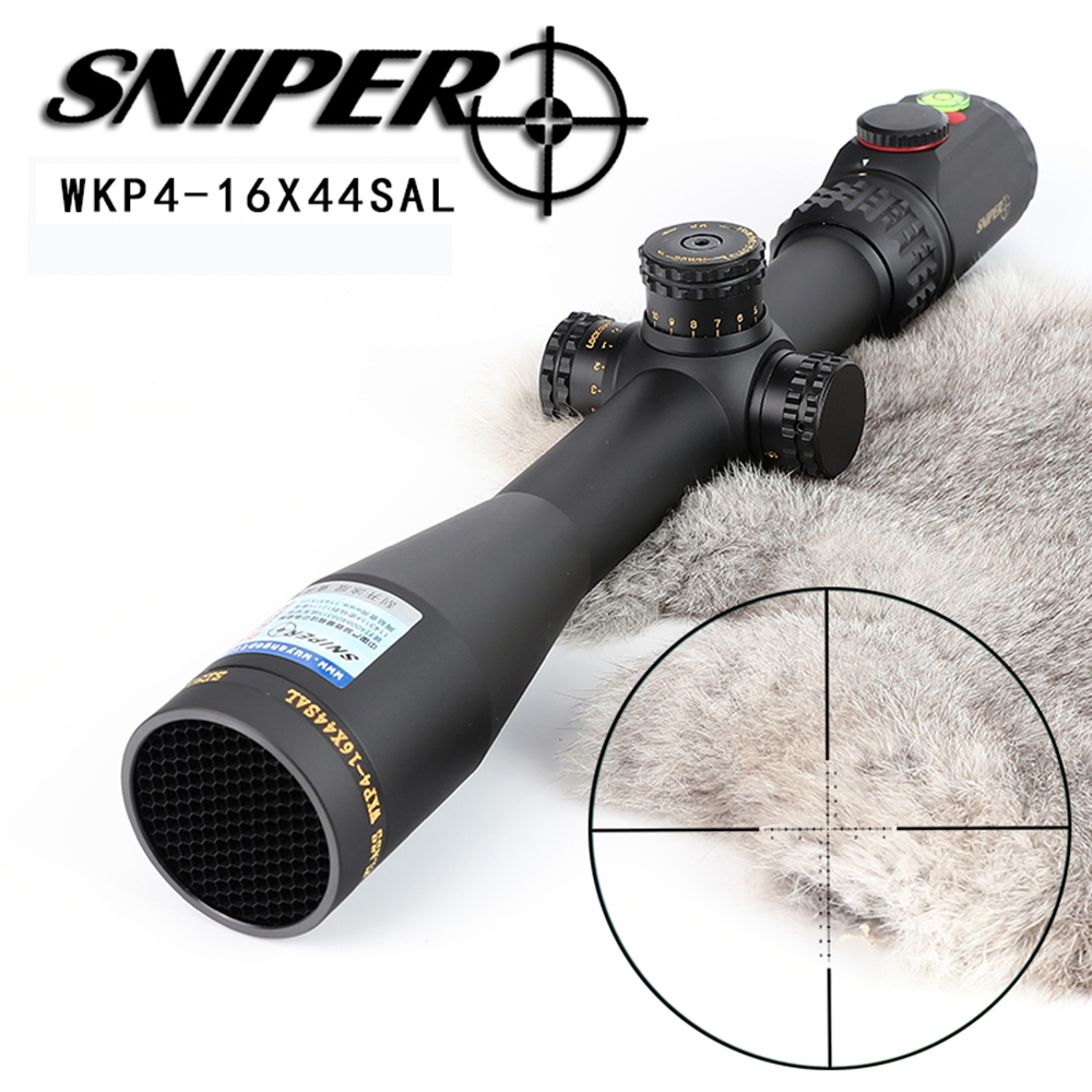 Hunting SNIPER WKP 4 16X44 SAL Rifle Scope Side Parallax Adjustment Glass Etched Reticle RG Illuminated