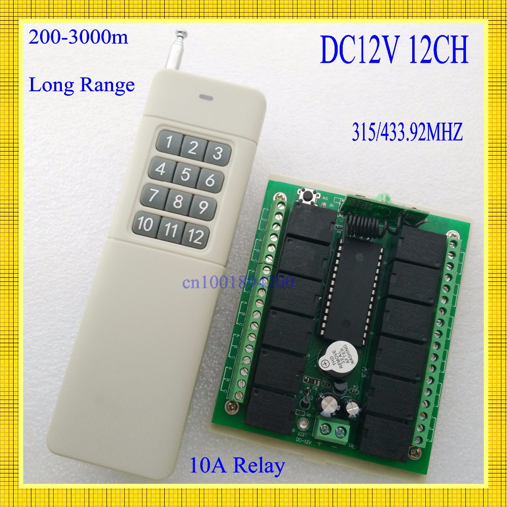 200 3000m Long Range Dc12v 12 Ch Radio Controller Rf Wireless Remote Ir Transmitter Receiver Circuit Electronic Projects Control Switch 315 433 Rc Tx Rx In Switches From Lights