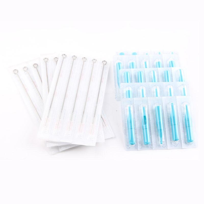 (13M1+13FT) 50 PCS Disposable Sterile Tattoo Needle+50PCS Blue Disposable Tattoo tips Free shipping tattoo needle product 3