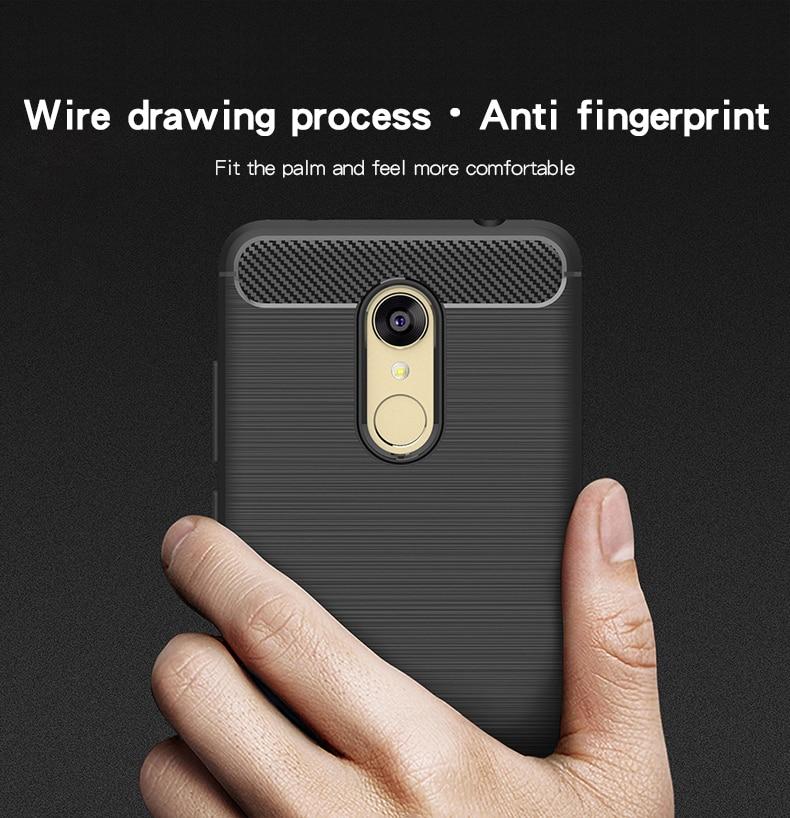 MOFi For Xiaomi Redmi 5 Plus Case Cover Silicone Carbon Fiber Soft TPU Shock Full Protector Cases For Redmi 5 Plus Phone Cover in Fitted Cases from Cellphones Telecommunications