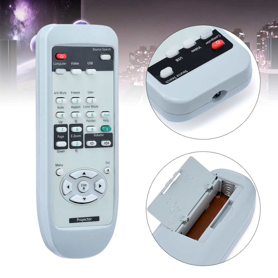 Onsale 1pc Remote Control Universal Replacement for EPSON Projector EMP-7800 EMP-7850 EM ...