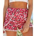 2016 Summer Fashion Sexy Mujeres Sueltan Cortocircuitos de la gasa de Boho Beach Pantalones Cortos Pantalones Caliente