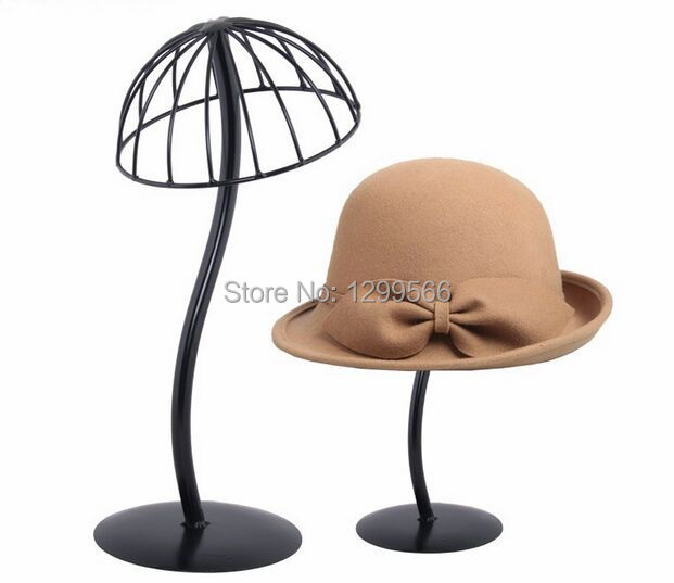 Exhibition Stand For Sale : Hot sale fashion creative black hat showing stand metal cap