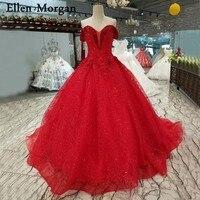 Красные вечерние, свадебные платья 3D цветы 2019 Vestido De Noiva блеск ткани Жемчуг Sexy с открытыми плечами Свадебные платья «Принцесса»