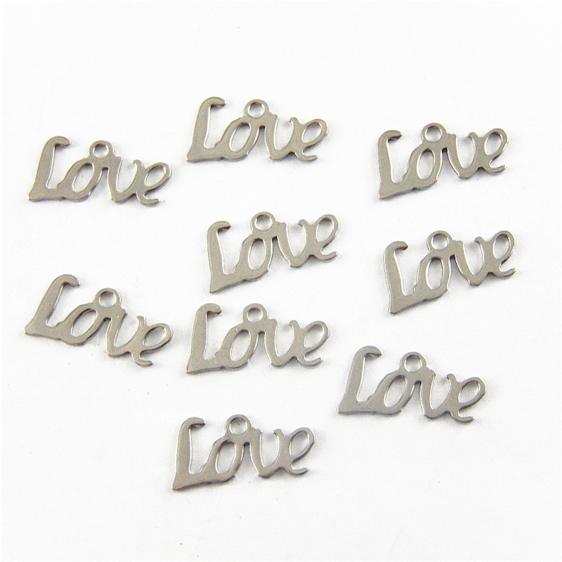 20pcs graceangie small love letter charms unique antique metal jewelry making necklace bracelet finding pendant 52048