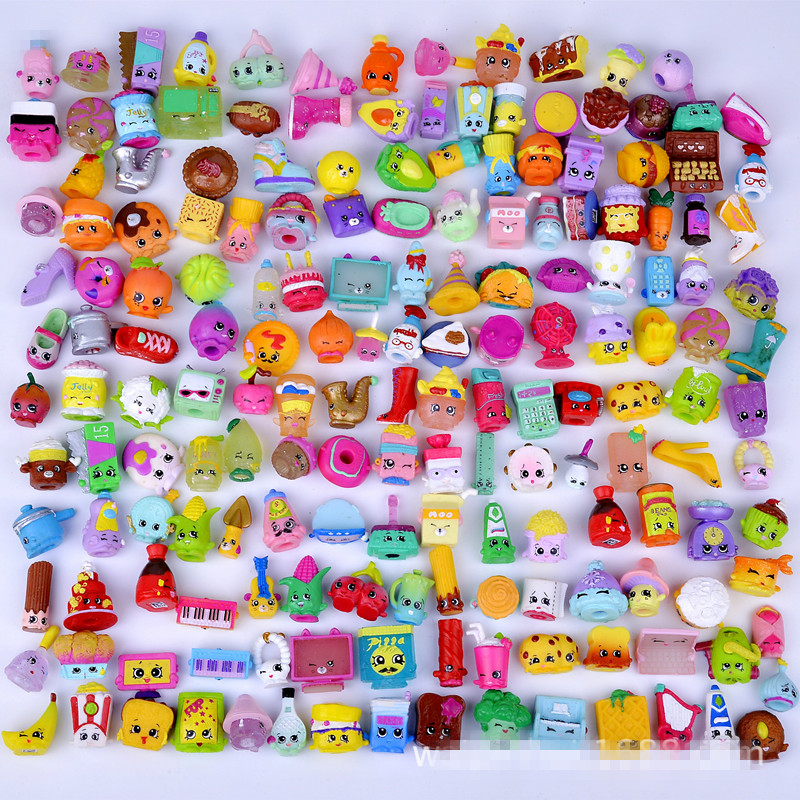 30Pcs/lot New Shop Action Figures for Family Fruit Kins Shopping Dolls Kids Christmas Gift Playing Toys Mixed Seasons