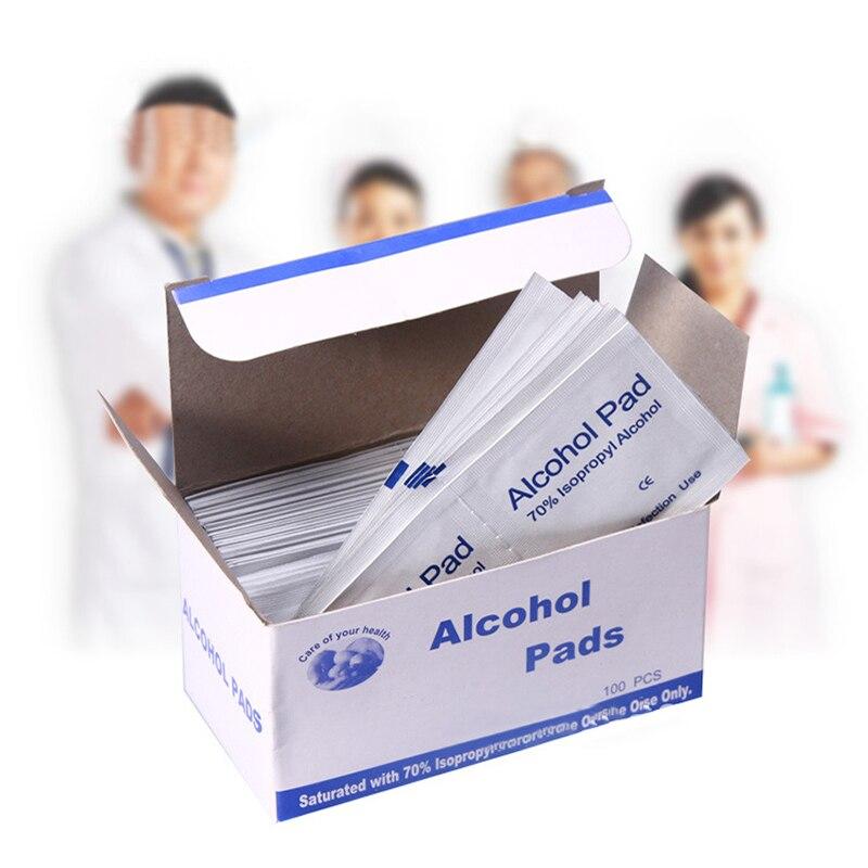 100pcs Disposable Medical Sterilization Alcohol Disinfection Cotton Piece Emergency First Aid Sterilization Clean Cotton Sheet