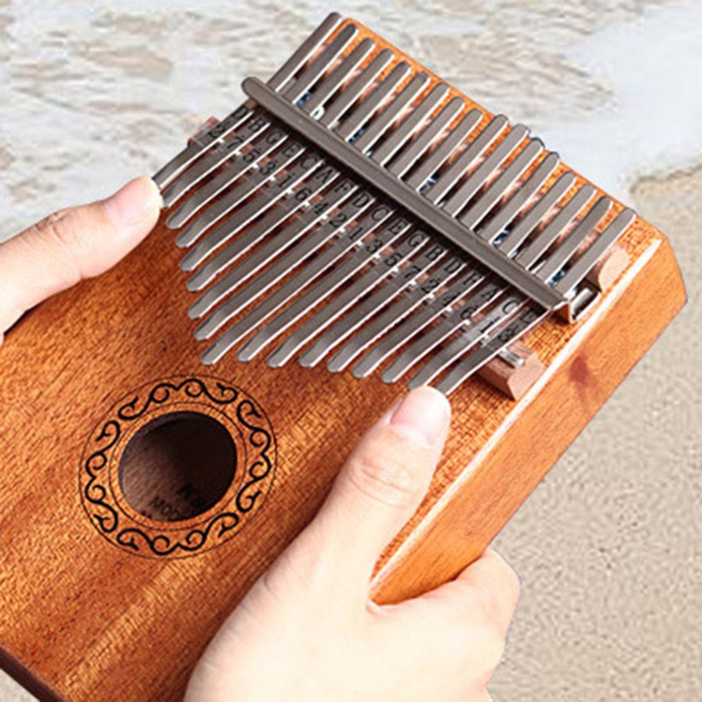 10/17 schlüssel Kalimba African feste Mahagoni Acacia Daumen Finger Klavier 17 schlüssel Massivholz Kalimba Musical Instrument