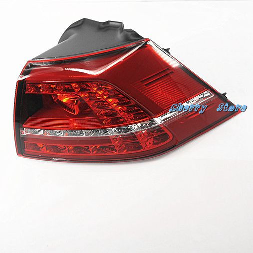 NEW 5G0 945 208 RED LED Right Outer LED Taillights Tail Light Assembly For VW Golf GTI GTD MK7 Mark 7 2013-2015 5G0945208 real carbon fiber mirror cover case for vw golf 7 mk7 gti tsi vii jdm 2013 2015 [1031001]