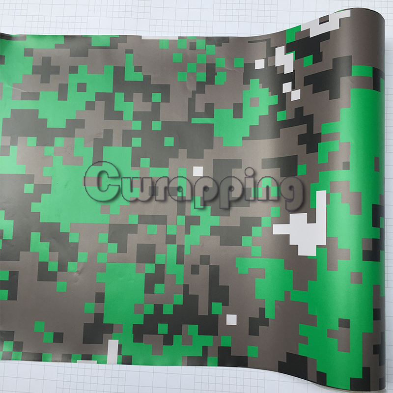Lime Green Digital Camouflage Vinyl for Motorcycle Bike Scooter Car HOOD Roof Decal Military Camo Film Sticker 1.5m 2m 3m