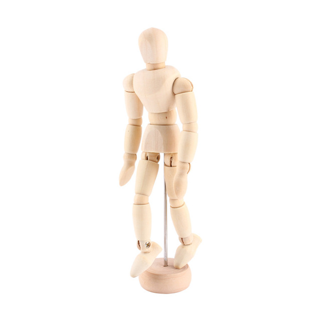 Artist Movable Limbs Male Wooden Toy Figure