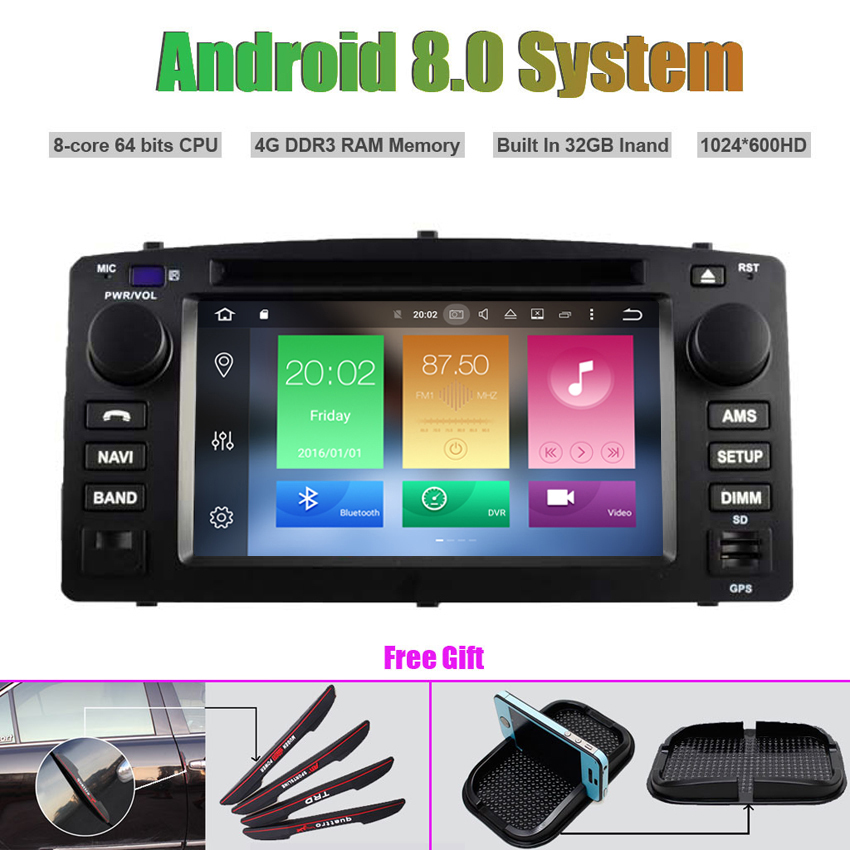 Octa-Core Android 8.0 CAR DVD Player for TOYOTA COROLLA 2004-2007