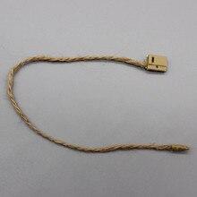 Ropa exquisita hebilla de cuerda cuerdas de etiqueta/H cuerda prenda etiqueta de la caída etiqueta de sello