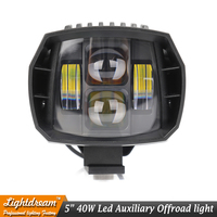 40W led headlight 5inch New Led Driving Light 2016 newest led fog light used for car truck suv atv marine New External Light x1