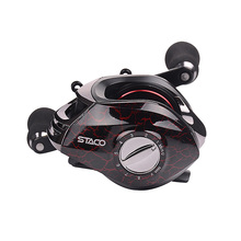 HiUmi Low Profile Baitcasting Fishing Reel 13 + 1 Shielded Bearings Baitcaster Tuned Magnetic Brake System Baitcast Reel