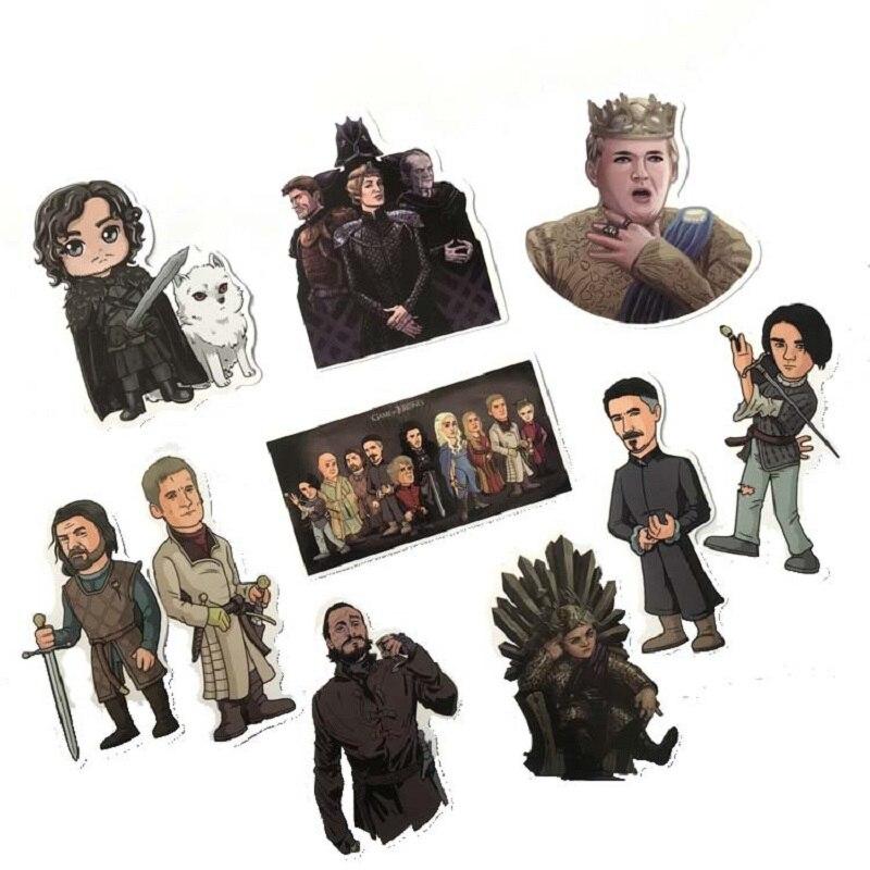 61 pz/set Game of Thrones sticker cosplay prop PVC ghiaccio e del fuoco canzone Jon Snow decalcomania del computer frigorifero adesivi valigia