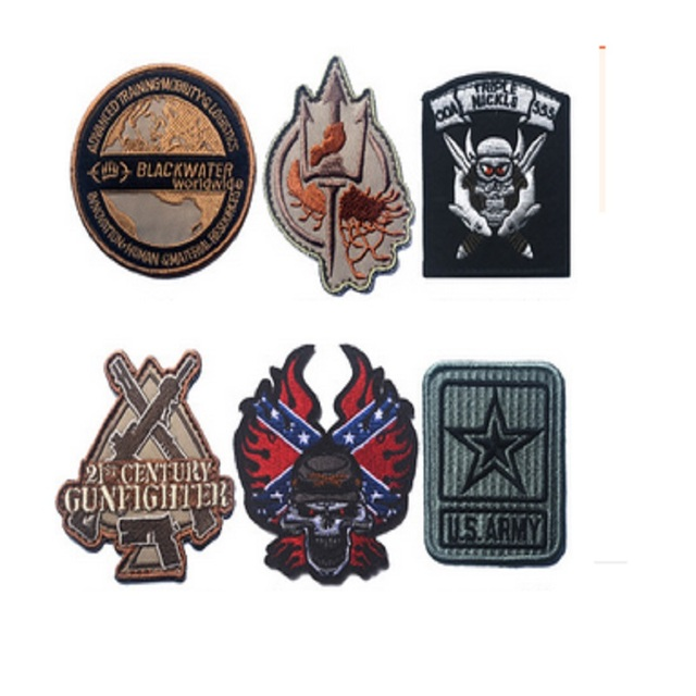 3d Embroidery Patches Black Water World Wide Patch Tactical