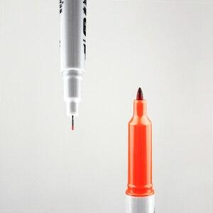 Image 3 - 12 sztuk SIMBALION 12 kolory podwójny z markerem z długopis na bazie oleju Marker permanentny artykuły papiernicze artykuły biurowe szkolne materiały malarskie dostawy nowy