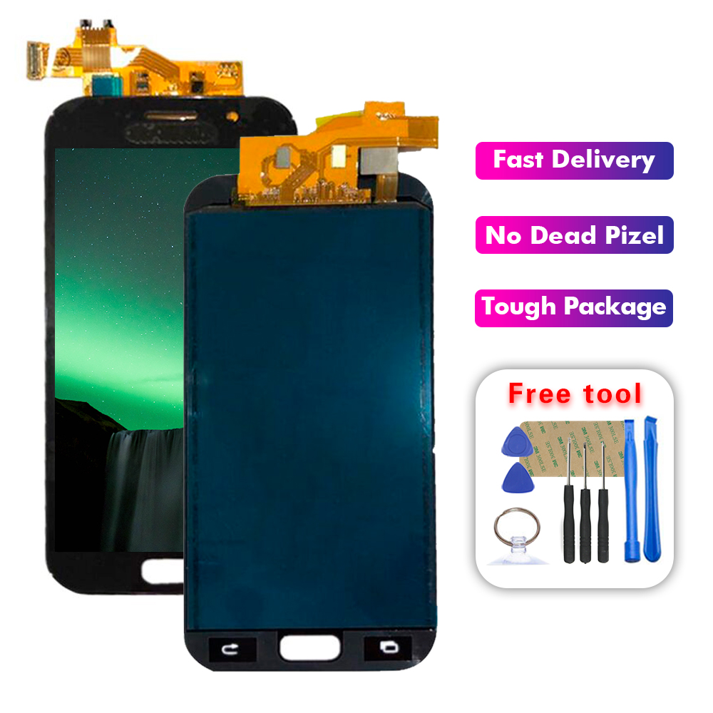 For Samsung Galaxy A5 2017 A520F SM A520F A520fn LCD Display Touch Screen Digitizer Glass Assembly+Tools|Mobile Phone LCD Screens| |  - title=