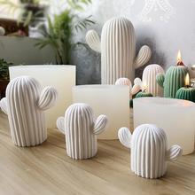 Creative Cactus Shaped Silicone DIY Mold Mould Candle Gypsum Handmade Crafts Home Decoration Random Color