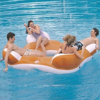 Inflatable swimming float inflatable floating islands swimming ring water Float Seat Air Mattress inflatable water chair