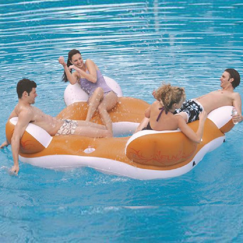 Inflatable swimming float inflatable floating islands swimming ring water Float Seat  Air Mattress inflatable water chair environmentally friendly pvc inflatable shell water floating row of a variety of swimming pearl shell swimming ring