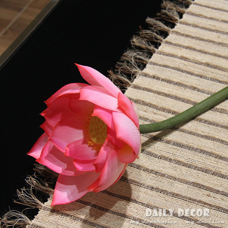 6pcs 95cm large artificial lotus flower giant flowers decoration 6pcs 95cm large artificial lotus flower giant flowers decoration with long stem fake lotus silk flower as fresh temples decor in artificial dried flowers mightylinksfo Images