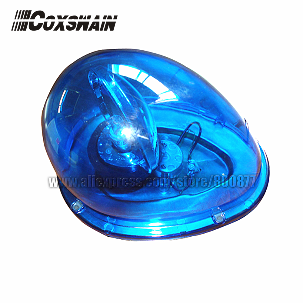 Halogen Revolving Beacon For Car,  Car Rotator Beacon Warning Light, DC12/24V, 30W, Magnetic Install, PC Dome, Waterproof (D213)