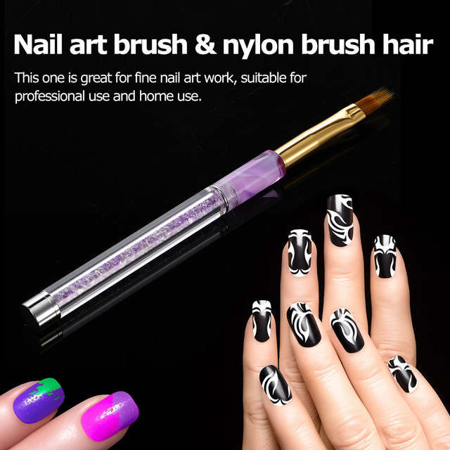 1pc Nail Brush Nail Art UV Gel Painting Pen Brush Nail Art Gradient Brush Acrylic UV Gel Polish 3D Tips Effect Design Tools