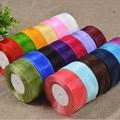 CNCRAFT, 50 мм, 5 см, 10 ярдов/посылка, одноцветные ленты из органзы, свадебные украшения, сделай сам, украшение на голову, подарочная упаковка - фото