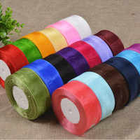 CNCRAFT U PICK 50mm 5cm 10 yards/package Solid Color Organza Ribbons Wedding Decorations DIY Head Jewelry Gift Box Wrapping
