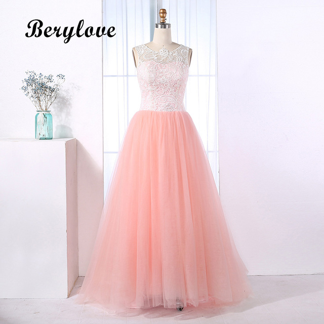BeryLove Ball Gown Pink Lace Quinceanera Dresses Special Occasion ...