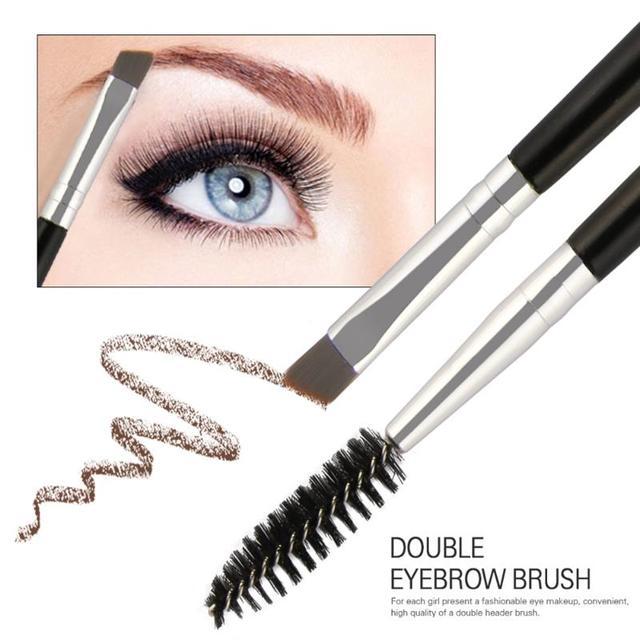 c8032c7b2f3 6Pcs/Set Double Head Eyebrow Brushes Professional Reusable Eye Lashes  Eyebrow Brush Cosmetics Pens Two