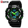 OTS LEDS Militar Sports Digital Watch Men Waterproof Silicone Strap Dual Display Watch Man Militaire Eletronicos Wristwatch Mens