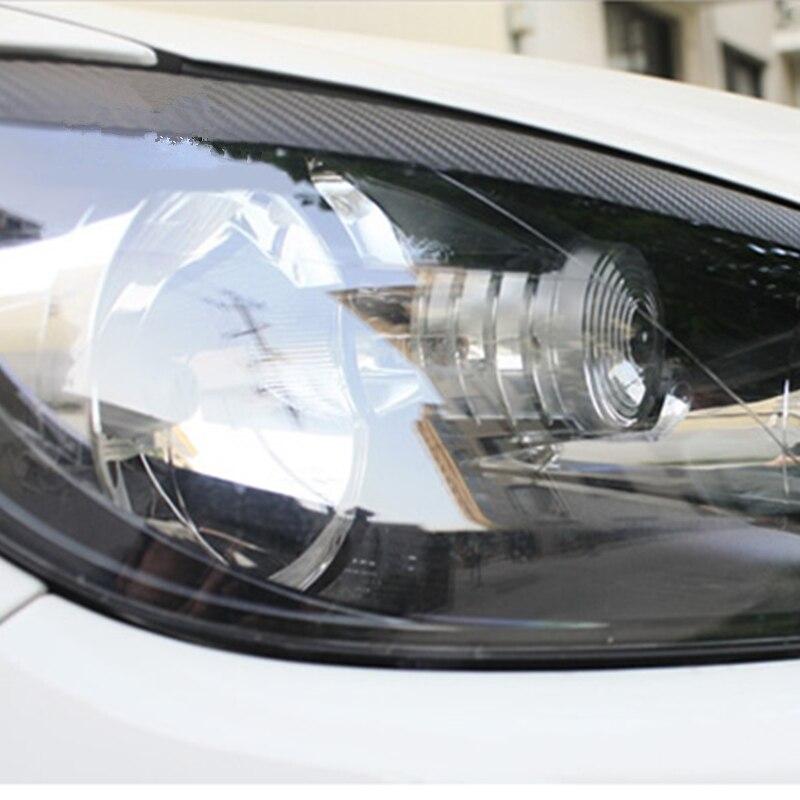 Новые наклейки для макияжа глаз Подводка «Стрелки» углеродное волокно наклейка подходит для Volkswagen VW GOLF 6 GTI R20 формирующий светильник для бр...