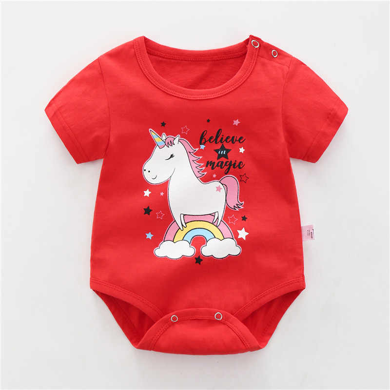 d29a71f6402c 2019 summer Newborn Baby Clothes cotton Girl Boy rompers Short sleeve Baby  jumpsuit kids clothes