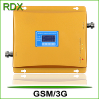 High gain 65dB lcd display cellphone dual band 900 2100 repeater mobile phone gsm 3g booster amplifier with power adaptor sale