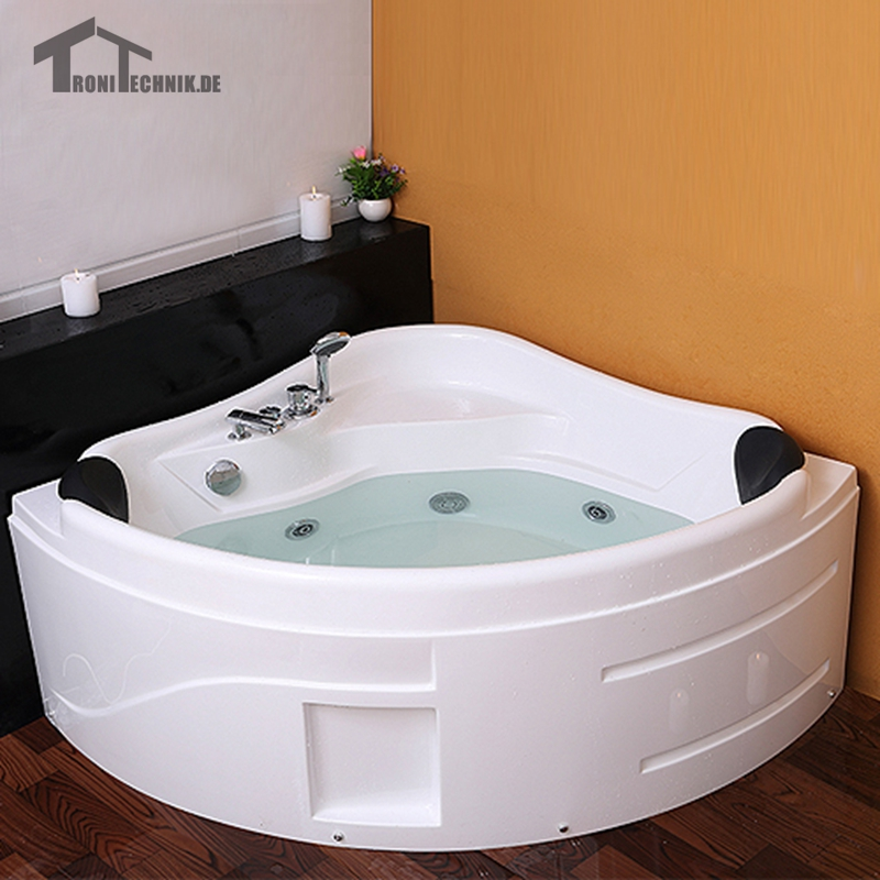 1300mm Shower Spa Mage 2 Person Hot Tub Led Whirlpool Bathtub Wall Corner Gl Acrylic Triangular