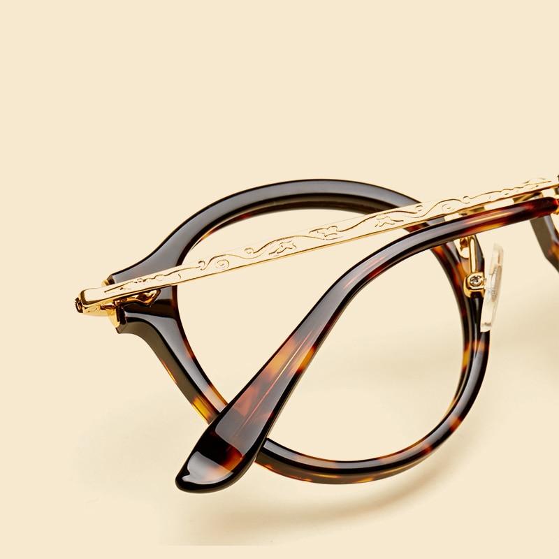 LIYUE Vroča prodaja Ovalna očala z jasnimi lečami Modni Retro - Oblačilni dodatki - Fotografija 3