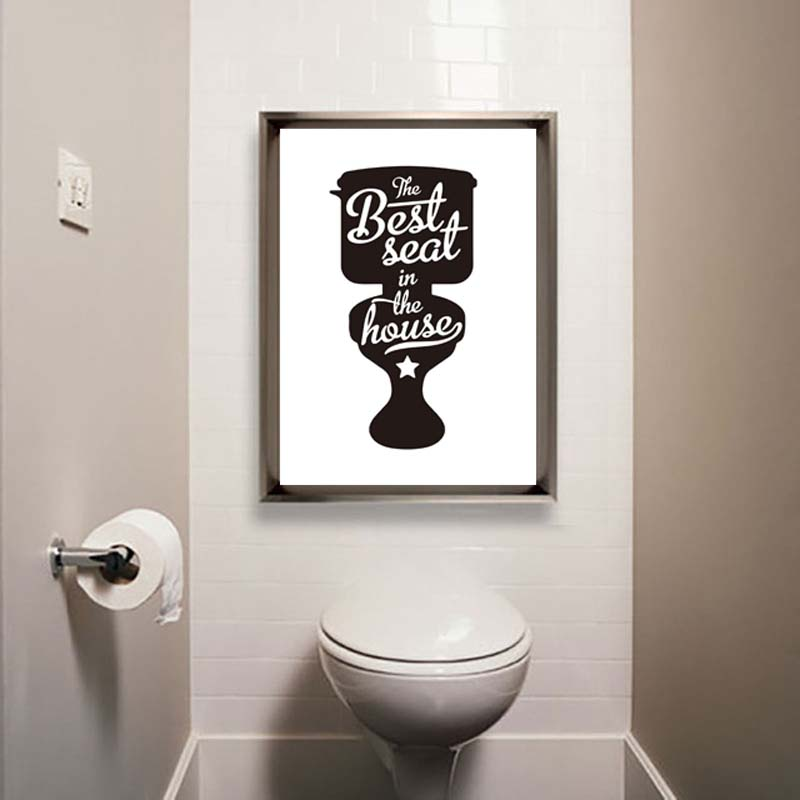 Toilet Note Life Quotes Posteramp Prints Modern Canvas ...