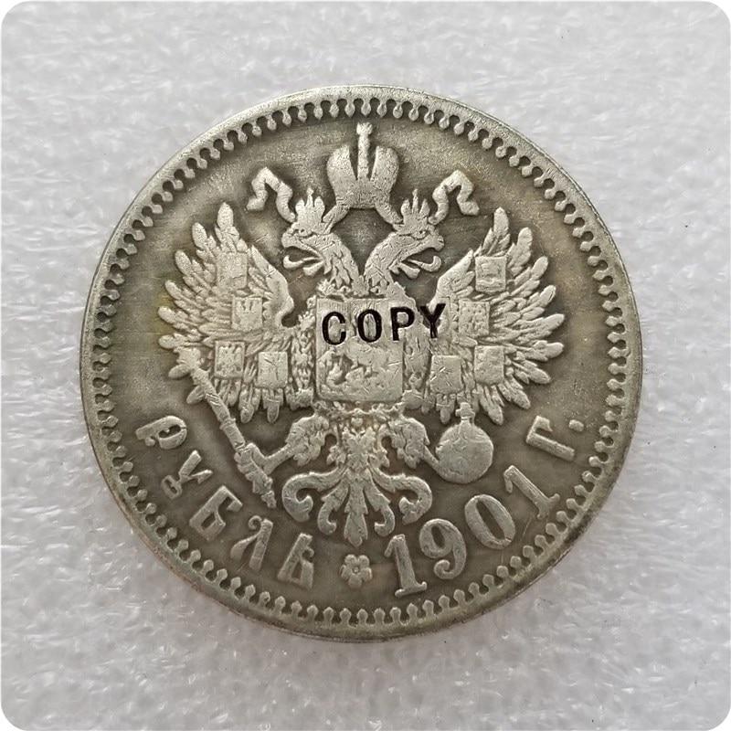 1901 Россия 1 рубль копия памятные монеты-копия монет медаль коллекционные монеты