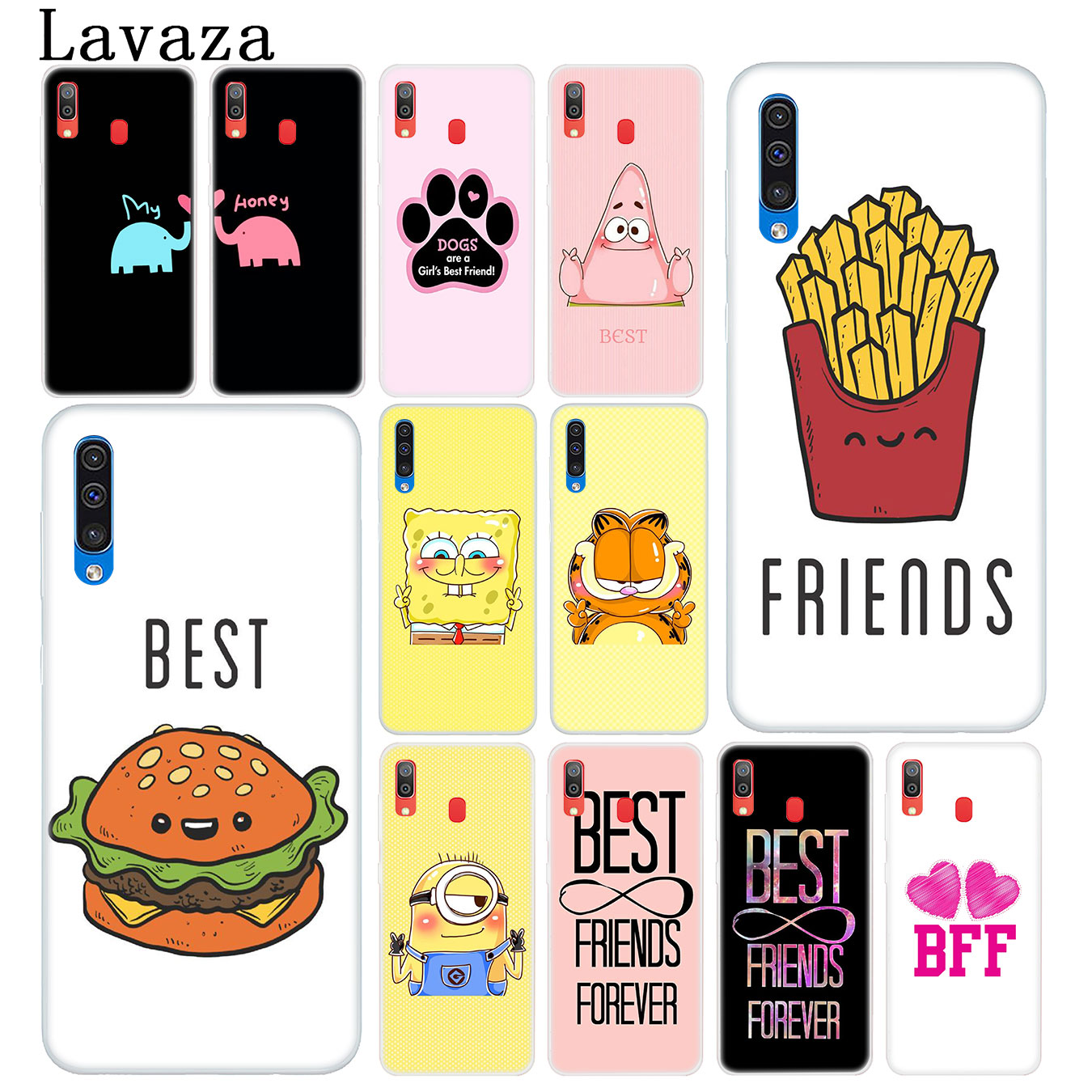 Lavaza Best Friends Girl Hard Transparent Phone Case for Samsung Galaxy A10 A20 A30 A40 A50 A60 A70 M10 M20 M30 M40 A20e Cover image