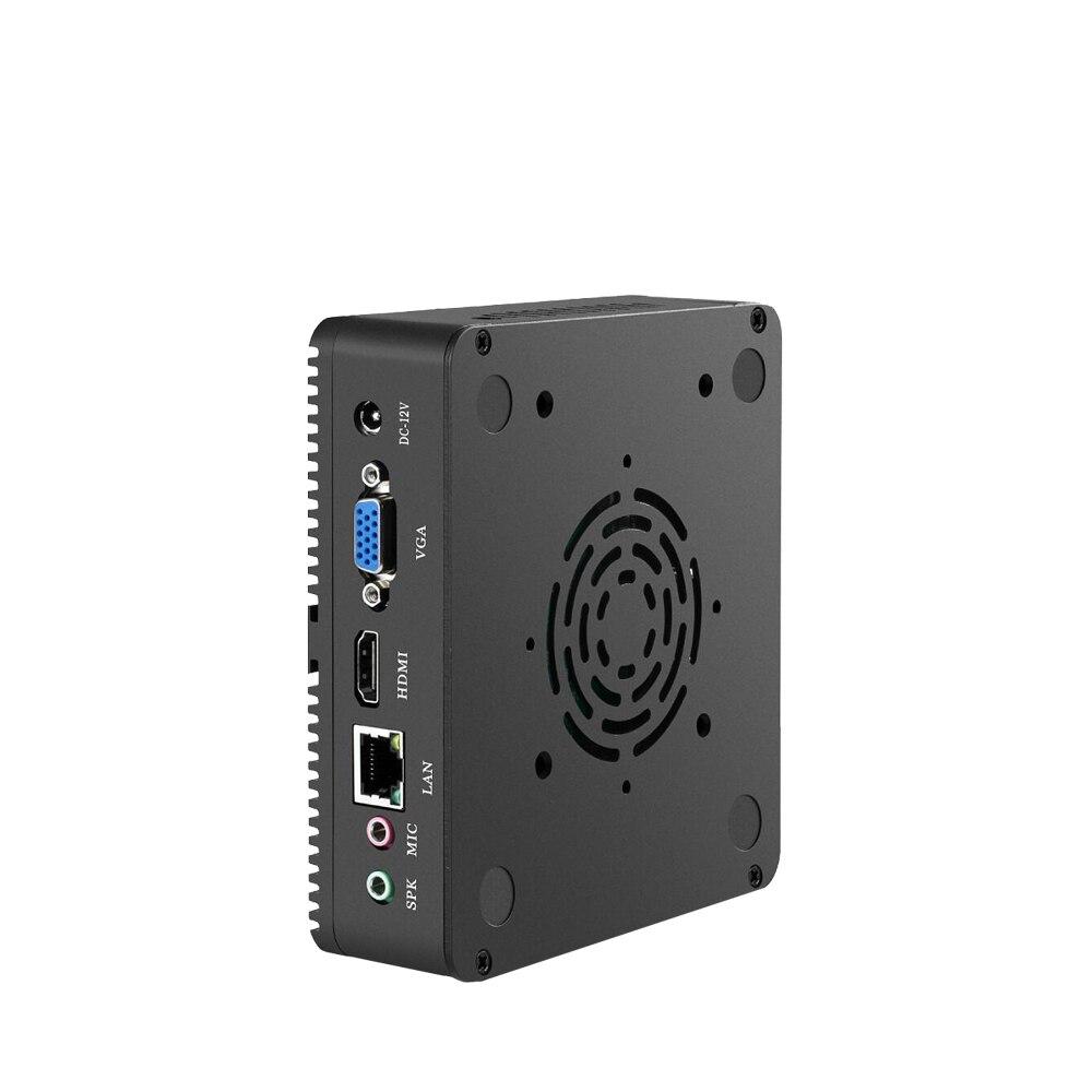 Image 5 - Intel Celeron N2830 N2930 Мини ПК Windows 10 Linux мини компьютер без вентиляторов HTPC медиаплеер wifi HDMI офисный Настольный ПК-in Мини-ПК from Компьютер и офис