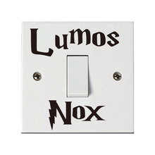 Lumos Nox Wall Stickers Classic Movie Harry Potter Switch Sticker For Kids Room Home Decoration Accessories