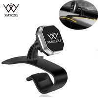 XMXCZKJ Newest Car Holder Universal Car Dashboard Mount Magnetic Holder Stand Adjustable HUD Design Cradle For