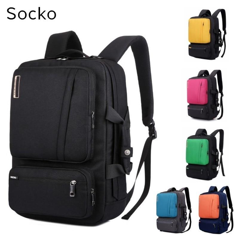 2019 SOCKO Brand Backpack Messenger Handbag For Laptop 15