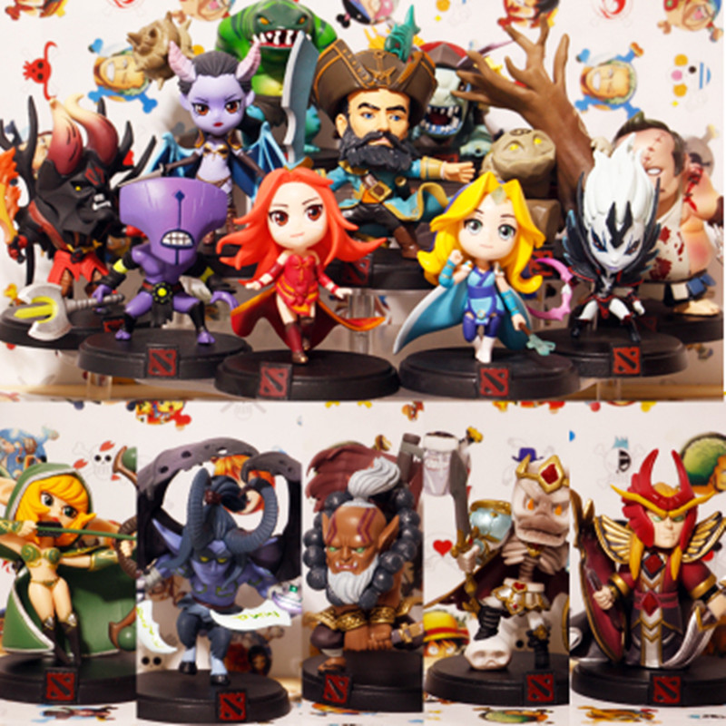 WOW All Styles DOTA 2 Game Figure Kunkka Lina Pudge Queen Tidehunter CM FV PVC Action Figures Collection dota2 Toys all characters tracer reaper widowmaker action figure ow game keychain pendant key accessories ltx1