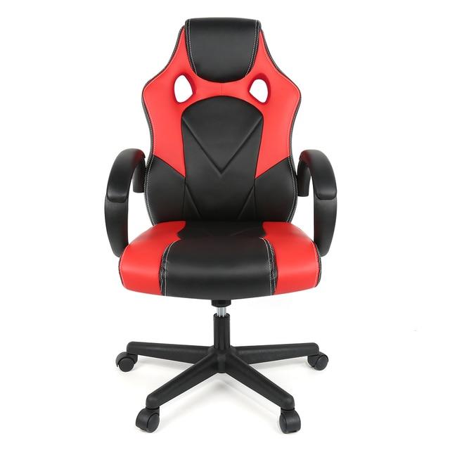 Silla de oficina ergonómica para el hogar giratoria ajustable de alta calidad con respaldo alto, silla de Gaming de imitación de cuero reclinable HWC